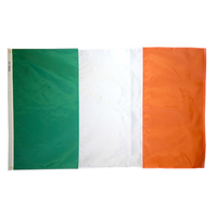 2x3 ft. Nylon Ireland Flag with Heading and Grommets