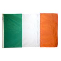 2x3 ft. Nylon Ireland Flag Pole Hem Plain