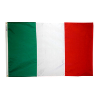 2x3 ft. Nylon Italy Flag with Heading and Grommets