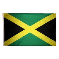 4x6 ft. Nylon Jamaica Flag Pole Hem Plain