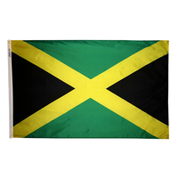 5x8 ft. Nylon Jamaica Flag with Heading and Grommets