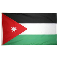 4x6 ft. Nylon Jordan Flag with Heading and Grommets