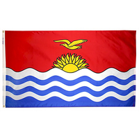 2x3 ft. Nylon Kiribati Flag with Heading and Grommets