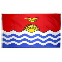 4x6 ft. Nylon Kiribati Flag Pole Hem Plain