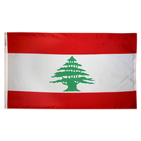 3x5 ft. Nylon Lebanon Flag Pole Hem Plain