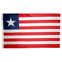 4x6 ft. Nylon Liberia Flag Pole Hem Plain