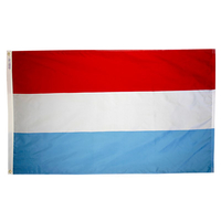 4x6 ft. Nylon Luxembourg Flag with Heading and Grommets