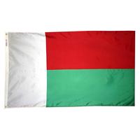 4x6 ft. Nylon Madagascar Flag Pole Hem Plain