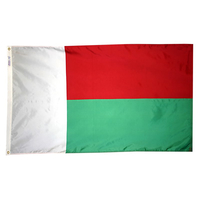 3x5 ft. Nylon Madagascar Flag with Heading and Grommets