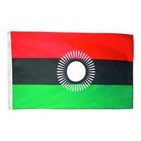 2x3 ft. Nylon Malawi Flag Pole Hem Plain