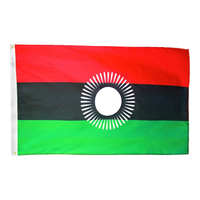 4x6 ft. Nylon Malawi Flag with Heading and Grommets