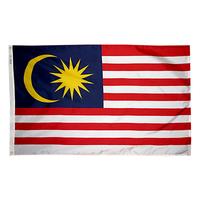 4x6 ft. Nylon Malaysia Flag Pole Hem Plain
