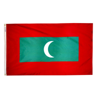 5x8 ft. Nylon Maldives Flag with Heading and Grommets