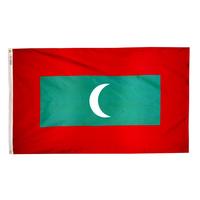 3x5 ft. Nylon Maldives Flag Pole Hem Plain