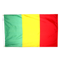 2x3 ft. Nylon Mali Flag Pole Hem Plain