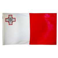 3x5 ft. Nylon Malta Flag Pole Hem Plain