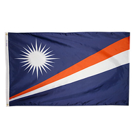 3x5 ft. Nylon Marshall Island Flag with Heading and Grommets