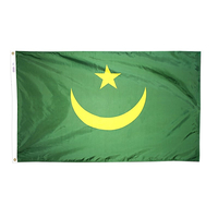 5x8 ft. Nylon Mauritania Flag with Heading and Grommets