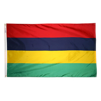 3x5 ft. Nylon Mauritius Flag with Heading and Grommets