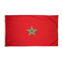 3x5 ft. Nylon Morocco Flag with Heading and Grommets