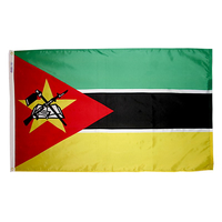 4x6 ft. Nylon Mozambique Flag with Heading and Grommets