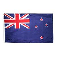 4x6 ft. Nylon New Zealand Flag Pole Hem Plain