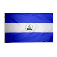 3x5 ft. Nylon Nicaragua Flag Pole Hem Plain