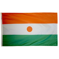 5x8 ft. Nylon Niger Flag with Heading and Grommets