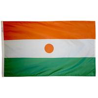 4x6 ft. Nylon Niger Flag Pole Hem Plain
