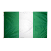 3x5 ft. Nylon Nigeria Flag Pole Hem Plain