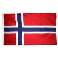2x3 ft. Nylon Norway Flag with Heading and Grommets