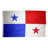 5x8 ft. Nylon Panama Flag with Heading and Grommets
