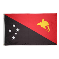 4x6 ft. Nylon Papua New Guinea Flag Pole Hem Plain
