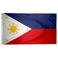 5x8 ft. Nylon Philippines Flag with Heading and Grommets