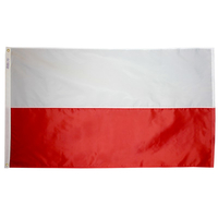 2x3 ft. Nylon Poland Flag Pole Hem Plain