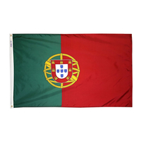 3x5 ft. Nylon Portugal Flag Pole Hem Plain