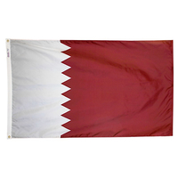 3x5 ft. Nylon Qatar Flag Pole Hem Plain