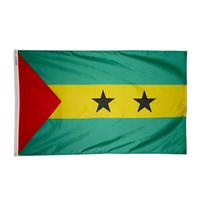 4x6 ft. Nylon Sao Tome / Principe Flag Pole Hem Plain