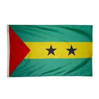 3x5 ft. Nylon Sao Tome / Principe Flag with Heading and Grommets