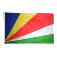 5x8 ft. Nylon Seychelles Flag with Heading and Grommets