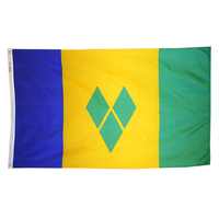 2x3 ft. Nylon St Vincent / Granada Flag with Heading and Grommets