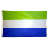 2x3 ft. Nylon Sierra Leone Flag with Heading and Grommets