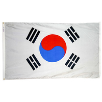4x6 ft. Nylon Korea South Flag Pole Hem Plain