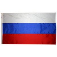 5x8 ft.  Nylon Russia Flag with Heading and Grommets