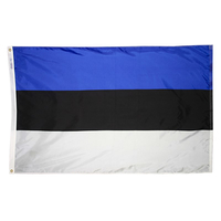 4x6 ft. Nylon Estonia Flag Pole Hem Plain
