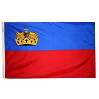 2x3 ft. Nylon Liechtenstein Flag with Heading and Grommets