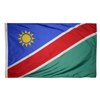 3x5 ft. Nylon Namibia Flag Pole Hem Plain