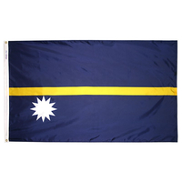 3x5 ft. Nylon Nauru Flag with Heading and Grommets