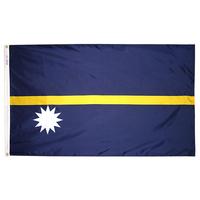 3x5 ft. Nylon Nauru Flag Pole Hem Plain