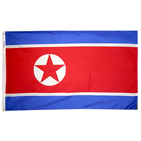 4x6 ft. Nylon Korea North Flag Pole Hem Plain